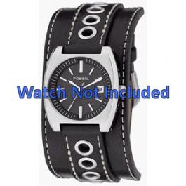 Pulseira de relógio Fossil JR8205 Couro Preto 16mm