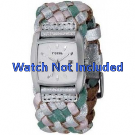 Pulseira de relógio Fossil JR9018 Couro Multicolorido 20mm