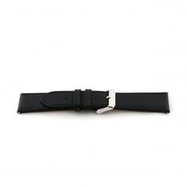 Pulseira de relógio Universal H010-XL Couro Preto 22mm