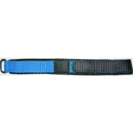 Pulseira de relógio Condor KLITTENBAND 412R Licht Blauw Velcro Azul 20mm