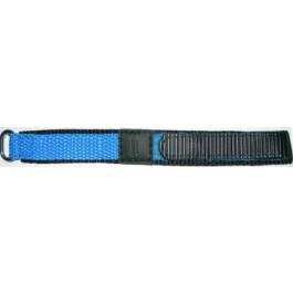 Pulseira de relógio Condor KLITTENBAND 412R Velcro Azul claro 14mm