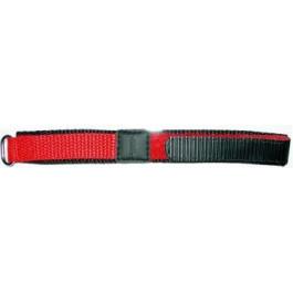 Pulseira de relógio Universal KLITTENBAND 412R Velcro Vermelho 20mm