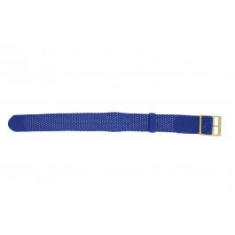 Pulseira de relógio Universal PRLN.18.LB Nylon/pérola Azul 18mm