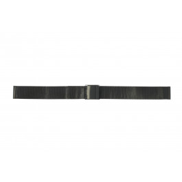 Pulseira de relógio Universal 18.1.5-ST-ZW Milanesa Preto 18mm