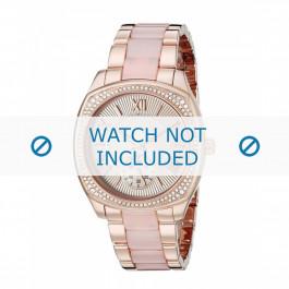 Michael Kors pulseira de relogio MK6135 Metal Vinho rosé 20mm