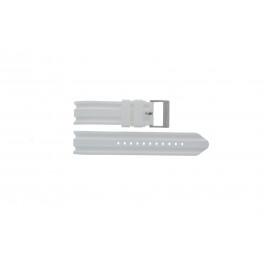 Pulseira de relógio Nautica A14608G / A16603G Borracha Branco 22mm
