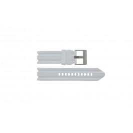 Pulseira de relógio Nautica A15567G Borracha Branco 24mm