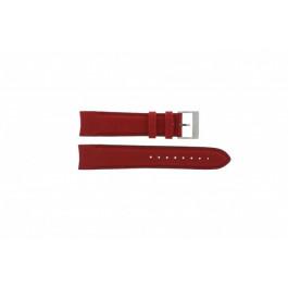 Nautica pulseira de relógio A24515G / N16532 Couro Vermelho 22mm