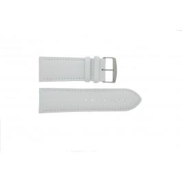 Pulseira de relogio 306.09 Couro Branco 24mm + costura padrão