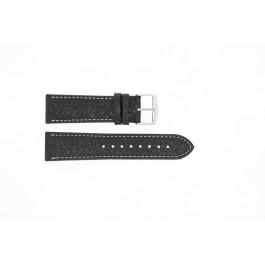 Pulseira de relógio Universal 307R.01 Couro Preto 20mm