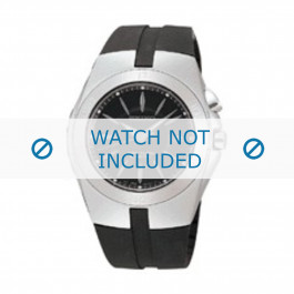 Seiko pulseira de relogio 5M62-0AL / SKA203J2 Borracha Preto 16mm