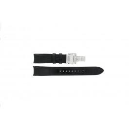 Pulseira de relógio Seiko 6G34-00E0 / SRL021P1 / 4A072JL Couro Preto 21mm