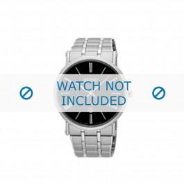 Pulseira de relógio Seiko 7N39-0CA0 / SKP393P1 Aço 24mm