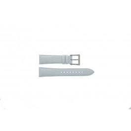 Seiko pulseira de relógio 7T92-0KS0 Couro Branco 20mm