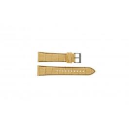 Pulseira de relógio Seiko 7T92-0NK0 / SNDD69P1 / L08C012N0 Couro Castanho claro 22mm