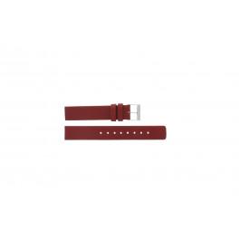 Skagen pulseira de relogio 224SSLR Couro Vermelho 16mm