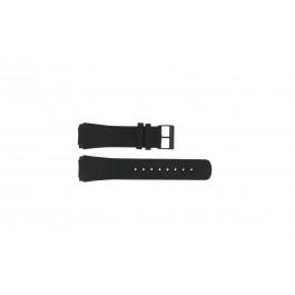 Pulseira de relógio Skagen 856XLBLB Couro croco Preto 23mm