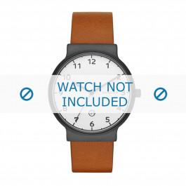 Pulseira de relógio Skagen SKW6297 Couro Conhaque 20mm