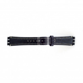 Pulseira de relógio Swatch (alt.) ES.IRON-2.05 Couro Azul 19mm
