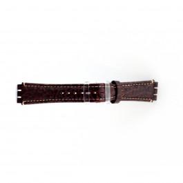 Pulseira de relógio Swatch (alt.) ES.IRON-2.02 Couro Marrom 19mm
