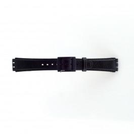 Pulseira de relógio Swatch (alt.) SC04.01 Couro Preto 17mm