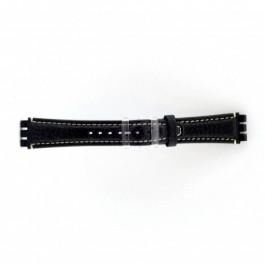 Pulseira de relógio Swatch (alt.) ES.IRON-3.05 Couro Azul 19mm