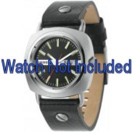 Pulseira de relógio Diesel DZ2129 Couro Preto 22mm