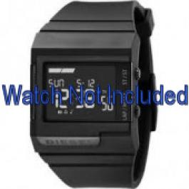 Diesel pulseira de relogio DZ7150 Silicone Preto 23mm