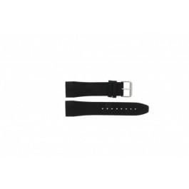 Pulseira de relógio Tommy Hilfiger TH1790833 / TH-175-1-14-1202 Couro Preto 24mm