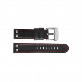TW Steel pulseira de relogio TWB411L Couro Preto 24mm + costura vermelha
