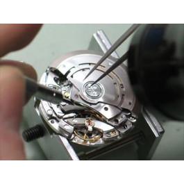 Substituição de uma pequena máquina de um relógio (com data)