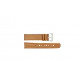 Pulseira de relógio Seiko V172-0AG0 / SSC081P1 Couro Marrom 21mm