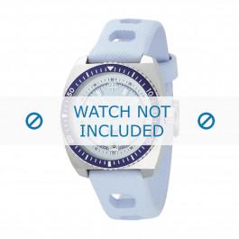 Pulseira de relógio ZO2230 Borracha Azul claro 20mm