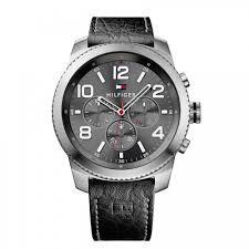 08aaef9acae Pulseira de relógio Tommy Hilfiger 679301774   1791110   TH.232.1.14.1761  Couro Preto