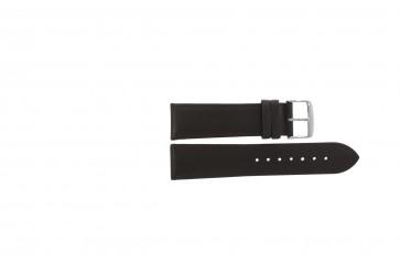 Bracelete em pele genuína castanho escuro 22mm 283