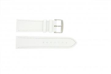 Bracelete em pele genuína branca 22 mm 283