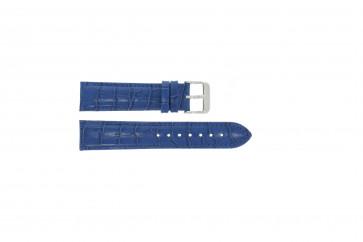 Pulseira de relogio em pele genuína motivos crocodilo azul 22 mm PVK-285