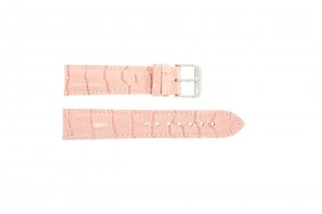 Pele genuína motivo crocodilo cor-de-rosa 22mm PVK-285