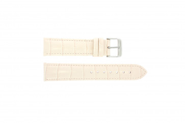 Bracelete em pele genuína motivos crocodilo cor-de-rosa 22 mm PVK-285