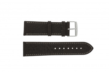 Pulseira de relógio Universal 307.02 XL Couro Marrom 18mm