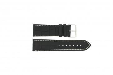 Pulseira de relógio Universal 308.01 Couro Preto 20mm