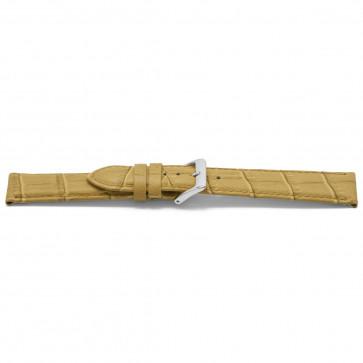 pulseira de couro genuíno ouro bege 22mm EX-H339