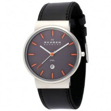 Pulseira de relógio Skagen 351XLSLBMO Couro Preto 20mm