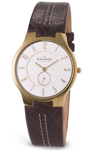e7d9d3d6642 Pulseira de relógio Skagen 433SGL1   X00000422 Couro Marrom 14mm