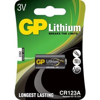 GP foto bateria 123A 3V