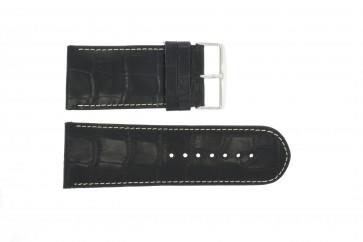 Pulseira de relógio Universal 61324.10.34 Couro Preto 34mm