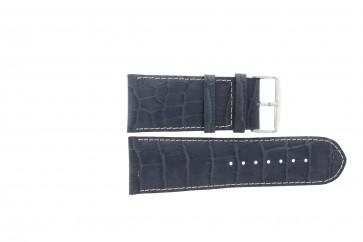Bracelete em pele genuína crododilo azul escuro 36mm WP-61324