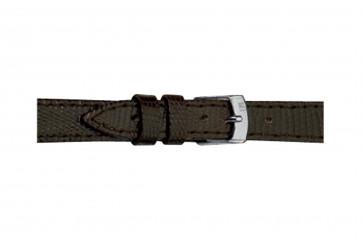 Morellato pulseira de relogio Livorno Gen.Tejus D2116372030CR08 / PMD030LIVORT08 Couro lizard Castanho escuro 8mm + costura padrão