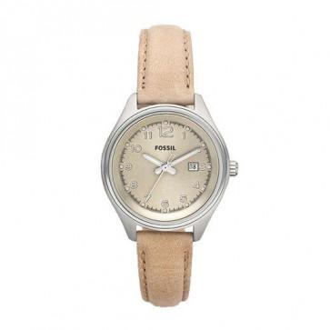 Pulseira de relógio Fossil AM4377 Couro Bege 22mm