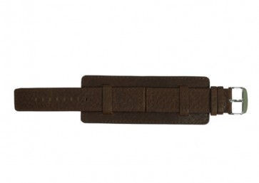 Davis pulseira de relógio B0221 Couro Castanho 22mm